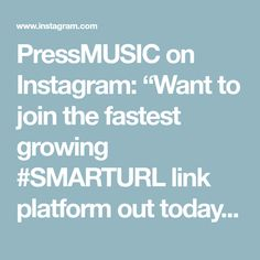 "PressMUSIC on Instagram: ""Want to join the fastest growing #SMARTURL link platform out today! Our affiliate earn up to 50% on each sale! ⁠ ⁠ DM ME for the link. @ 10…"""