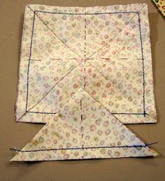Fibermania: Tutorial: 8 Half Square Triangles From One Square.