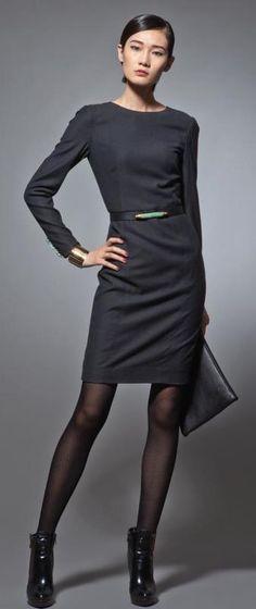 Long sleeves wool dress