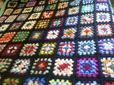 Traditional Granny Square Afghan Roseanne by babybinturong on Etsy, $175.00US ($200.14CAD) @Janay Moore