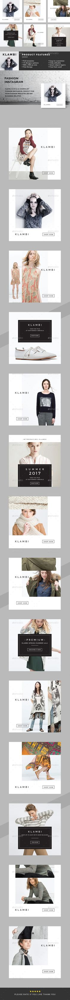 Fashion Instagram Banners - PSD Template • Only available here ➝ http://graphicriver.net/item/fashion-instagram-banners/16901991?ref=pxcr