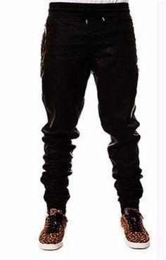 7c48d4bb2fb35 Kanye West Faux Leather Hip Hop Pants