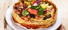Broccolipaj med purjolök Quiches, Cheddar, Vegetable Pizza, Vegetarian Recipes, Brunch, Food And Drink, Treats, Snacks, Breakfast