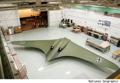 Horten 2-29 - WW2 German Stealth plane.  A group of experts from Northrop Grunman, a global security company, recently re-built the Horten 2-29 for a television special airing Sunday on the National Geographic Channel.