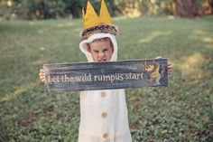 Custom 'Where the Wild Things Are' signs by DesignsbyPurcell, $17.00 cute for a kids birthday