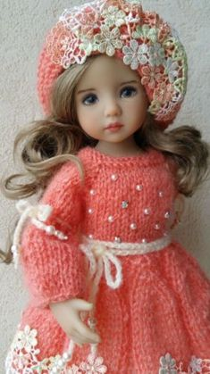 Outfit for dolls 13 inch Little Darling Dianna Effner. Handmade.