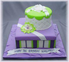 Purple & lime green cake