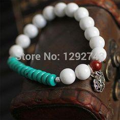 Wealth Tree Pendant White Stone And Turquoise Bracelets