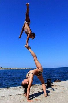 WOAH. I think this might be the craziest acroyoga pose I've seen so far.