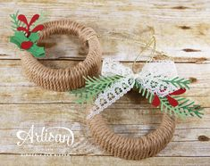 How to create a wreath ornament using mason jar lids.