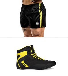 Leg day attire episode #445.  Orion Genesis meets our newly released yellow Vanity V2 short. Functional, focused on performance and looks to envy.  Only at  irontanksgymgear.com Built #Iron Tough