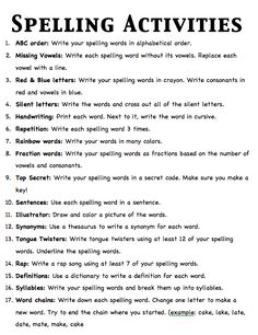 I have been using these ideas to help my kiddos practice their spelling words. … I have been using these ideas to help my kiddos practice their spelling words. Simply Resources: Update on STAR binders Spelling Word Activities, Spelling Homework, Spelling Rules, Spelling Practice, Spelling And Grammar, Homework Binder, Spelling Ideas, Homework Ideas, Work Activities