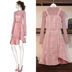Knitted sweater dress suit – orchidmet Source by cginutza outfits drawing Cute Fashion, Asian Fashion, Look Fashion, Girl Fashion, Fashion Drawing Dresses, Fashion Illustration Dresses, Fashion Dresses, Drawing Fashion, Dress Sketches