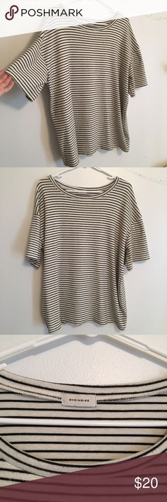 Oversized Striped T No trades! No modeling! One size but can fit a s-l depending on how you want it to fit. Super soft, thicker material. No flaws. *not urbanoutfitters*  Please be aware I try to ship items as quickly as possible so I reuse packaging Urban Outfitters Tops Tees - Short Sleeve