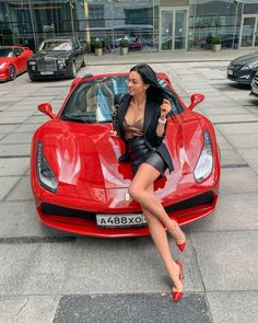 Image may contain: 1 person, car and exterior - Car Girl Wallpaper - Autos Auto Girls, Car Girls, Ferrari 488, Sexy Cars, Hot Cars, Mini Cooper S Jcw, Sexy Autos, Up Auto, Cars Auto