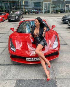 Image may contain: 1 person, car and exterior - Car Girl Wallpaper - Autos Auto Girls, Car Girls, Ferrari 488, Sexy Cars, Hot Cars, Sexy Autos, Up Auto, Cars Auto, Girly Car