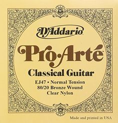 DAddario EJ47 8020 Bronze ProArte Nylon Classical Guitar Strings Normal Tension -- Click on the image for additional details.Note:It is affiliate link to Amazon.