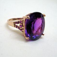 Vintage Color Change Ametrine Ring  Rose Gold Over by JanEleven, $149.00