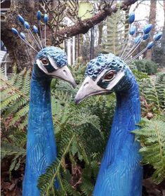 *GISELA GRAHAM**Zauberhafte*Hängedeko* bunte Paradiesvögel*Holz/&Metall*Glimmer*