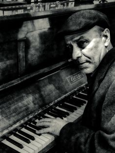 """J Claridge. Matt Johnson at the piano. """"I knew his dad from the Two Puddings"""" ~ JC"""