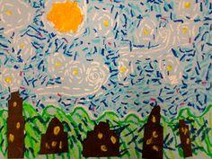 Starry Night - 1st, Zilker Elementary Art Class