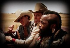 The A-Team - Dwight Schultz, Dirk Benedict, and Mr. T