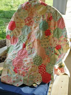 quilt as you go hexi's - warning it's by hand!!!