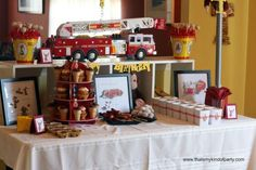 Curious George Firetruck Birthday Theme from Kara's Party Ideas