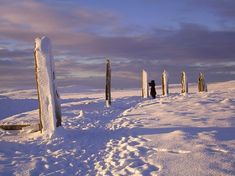 Ring of Brodgar in the winter