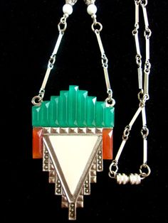 Hey, I found this really awesome Etsy listing at https://www.etsy.com/listing/280955706/glass-enamel-art-deco-revival-necklace
