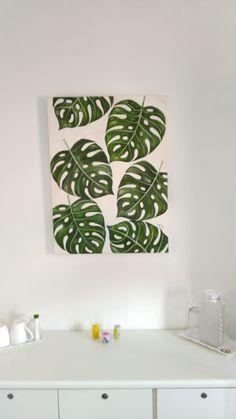 Design, Home Decor, Monstera Deliciosa, Canvas Art, The Beach, Garden, Block Prints, Colors, Drawings