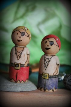 Pirate peg doll- Made to order. $6.00, via Etsy.