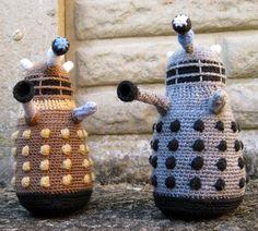 LucyRavenscar - Crochet Creatures: Dalek Amigurumi Pattern - Free! #DoctorWho