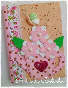 23 Clever DIY Christmas Decoration Ideas By Crafty Panda Foam Crafts, Diy And Crafts, Crafts For Kids, Paper Crafts, Altered Composition Books, Scrapbook Albums, Scrapbooking, Mother Gifts, Mini Albums