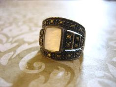 Vintage Sterling Silver Marcasite and Mother of by charmingellie, $38.00