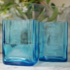 Recycled Glassware - Recycled Glass Sapphire Blue Drinking Glasses - Are Naturals