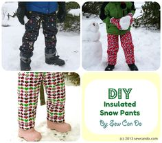 DIY Snow Gear Part 1: Insulated Snow Pants at Sew Can Do