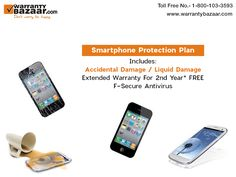 WarrantyBazaar's #smartphone protection plan covers accidental and liquid damage.