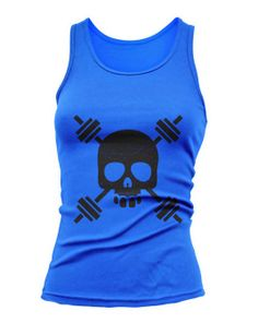 Skull Head Dumbbell Design  Tank Top Training Workout by JustScott, $14.99