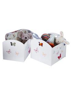 Butterfly Print Storage Box Pink print+White print
