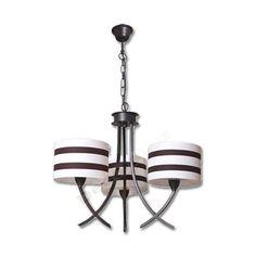Lámpara moderna marrón 3 pantallas lineas horizontales