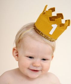 Birthday Crown Headband Large First Birthday Any Age Number