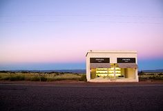 I've been here. It really is in the middle of nowhere Texas. Gray Malin, Prada Marfa at Dawn on OneKingsLane.com