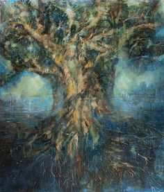 Tree of Life Tree Of Life Painting, Garden Of Eden, Figurative Art, Paintings, Modern, Contemporary Art, Trendy Tree, Painting, Draw