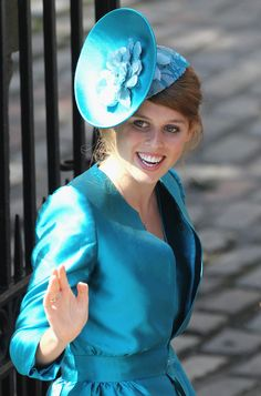 Princess Beatrice at Zara Phillips' wedding ceremony, July 2011.