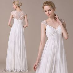 A-Line Sweetheart Floor-Length Chiffon Lace Wedding Gown <3