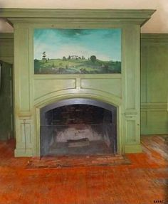 1900 Colonial Revival fireplace