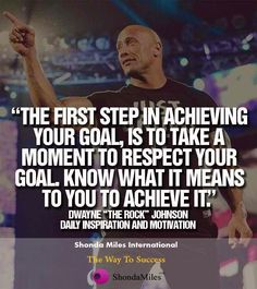 The first step in #achieving your goal...