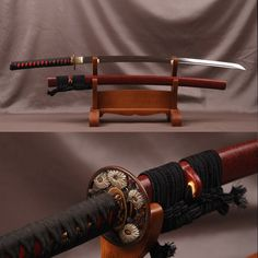 Ananada Folded Clay Tempered Steel Katana Samurai Sword