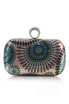 Unique Crystal Chain Clutches Bags BG16051 #cocomelody